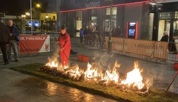 WIldwood PR walks on fire for charity